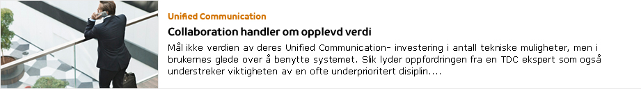 TDC Perspektiv: Unified Communication